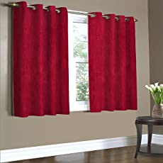 Home Candy Plain Polyester Curtain Set