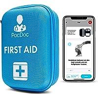 PocDoc Outdoor - Intelligentes Erste Hilfe Set nach DIN 13167 mit APP (Menschen & Tiere)- Reisen, Sport & Motorrad…