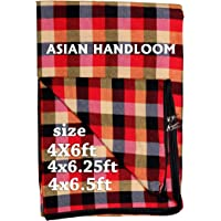 ASIAN HANDLOOM Cotton Single Bed Mattress Cover Protector for Dewan with Zip/chain -Multicolour