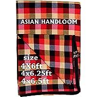 ASIAN HANDLOOM Cotton 250 TC Mattress Cover (Multicolour_King)