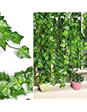 Shopicoo® (12 Strings) 80 Ft. Artificial Leaves Ivy Vine Garland Hanging Greenery for Home Office Wall Window Decoration