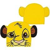 Disney Mickey Mouse Gorro Invierno para Niño, Divertidos Gorros con Cara y Orejas de Mickey Mouse o de Simba, Accesorios Nino