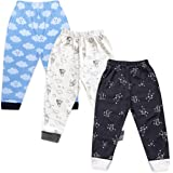 The Boo Boo Club Boy's & Girl's Cotton Printed Pajama - Mix Print (Pack of 3)