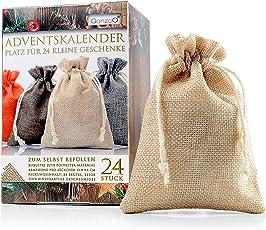 24er Set Jutesäckchen 13cm x 9,5cm, Jutebeutel, Stoffbeutel, Natur Säckchen, Geschenksäckchen, Sack, Beutel – Marke Ganzoo