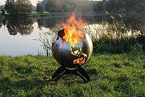 BlazeBall Feuerkugel Weltkugel 60 cm Feuerschale mit Ständer Feuerkorb Brennstelle