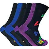 Sock Snob 6 pares calcetines hombre bambu divertidos colores en 5 estilos 40-45 eur