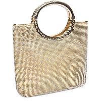 EULovelyPrice Damen Handgemachte Strass Handtasche, Abendtasche Damen Clutch Für Party