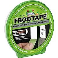 FrogTape Multi-surfaces – Ruban adhésif de masquage en papier crépon – Bords nets et tracés précis – Dimensions : 24mm x 41,1m – Couleur verte