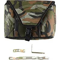 Autofy Sonex Camouflage Side Bag and Metal Clip for All Bikes (Green)