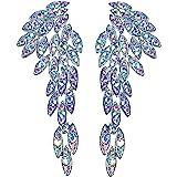 Art Deco 1920's Great Gatsby Angel Wings Eagle Wings Gothic Earrings Rhinestone Retro Statement Earrings Dangling Earrings Ch