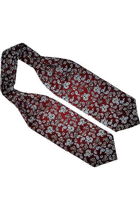 Paisley WANYING Uomo Cravatta Ascot /& Fazzoletto da Taschino Fazzoletto da Collo Retr/ò Chic Set di 2 Pezzi per Signore