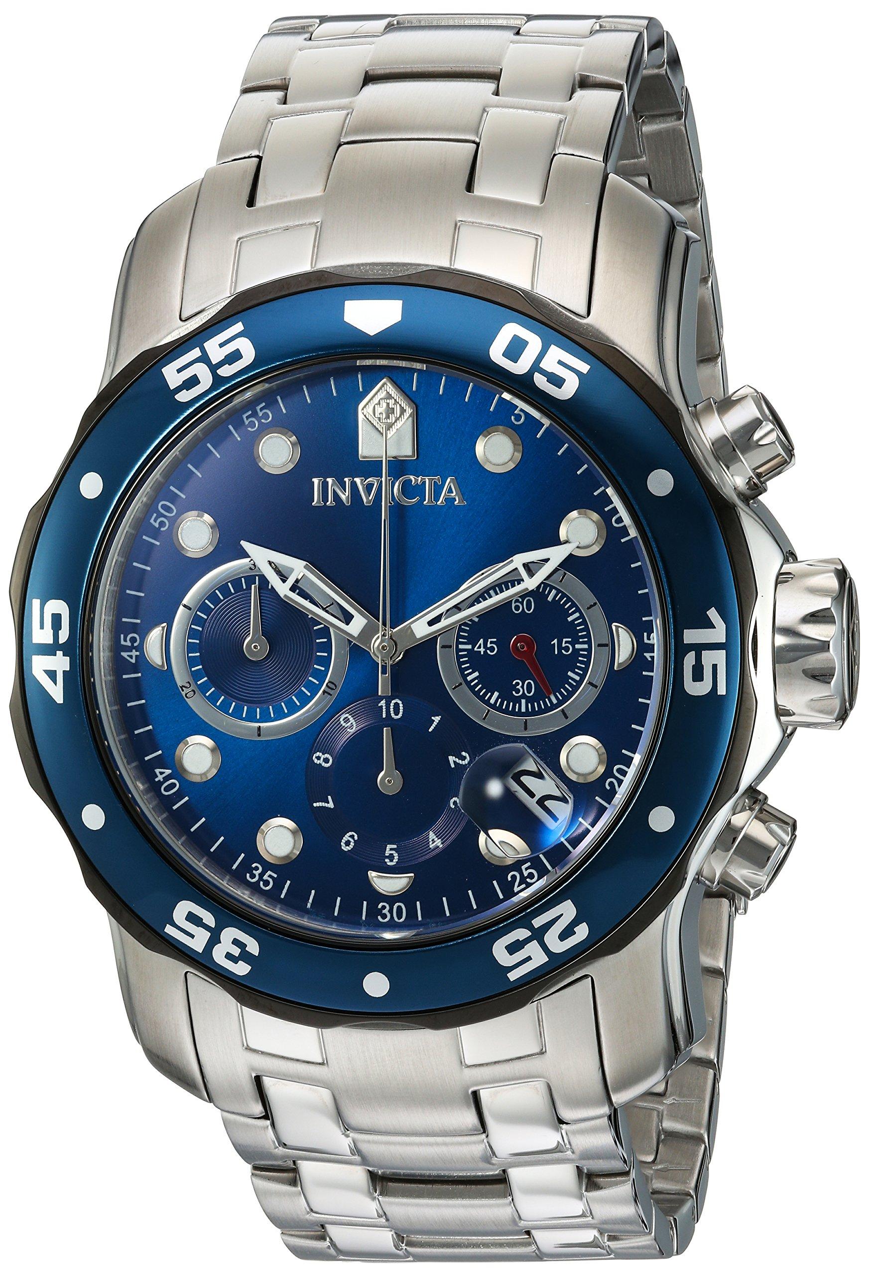 Invicta 21784 Pro Diver Reloj para Hombre acero inoxidable Cuarzo Esfera azul