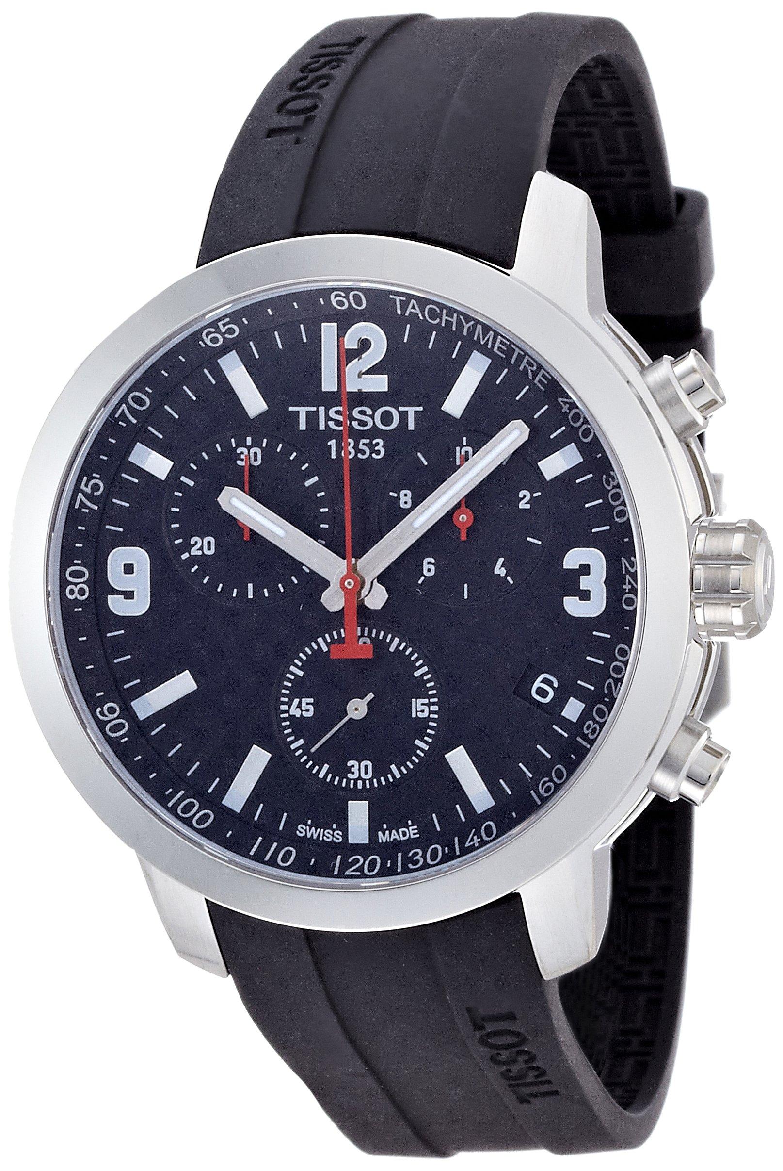 Tissot PRC 200 – Reloj (Reloj de pulsera, Masculino, Acero inoxidable, Acero inoxidable, Caucho, Negro)