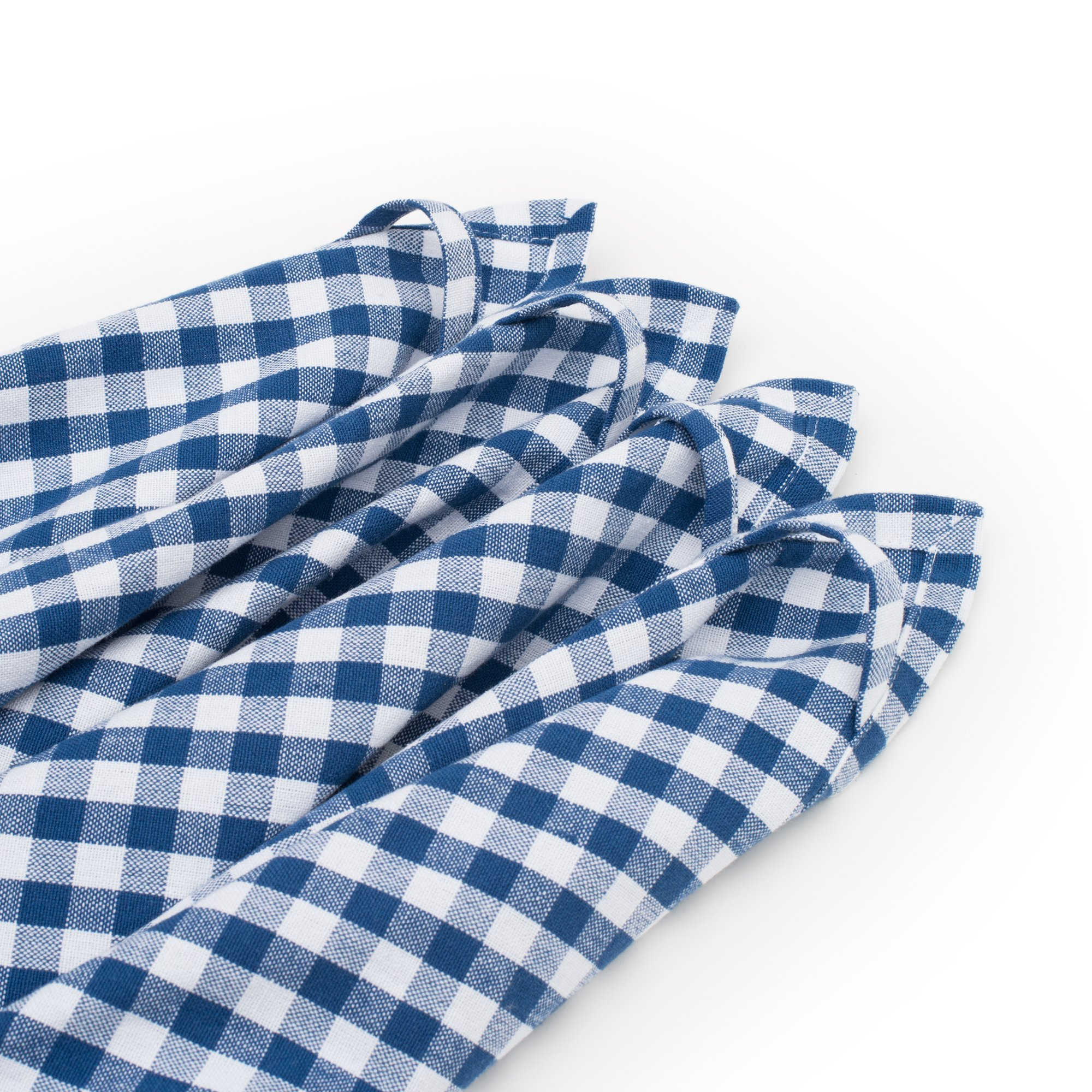 Strofinacci da cucina FILU (4 pezzi, blu e bianco) Strofinaccio da cucina  50 x 70 cm in 100% cotone, elegante motivo a quadretti, tinto in filo in ...