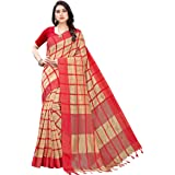 Women's Cotton silk Saree With Blouse Piece(SATURN_Free Size)