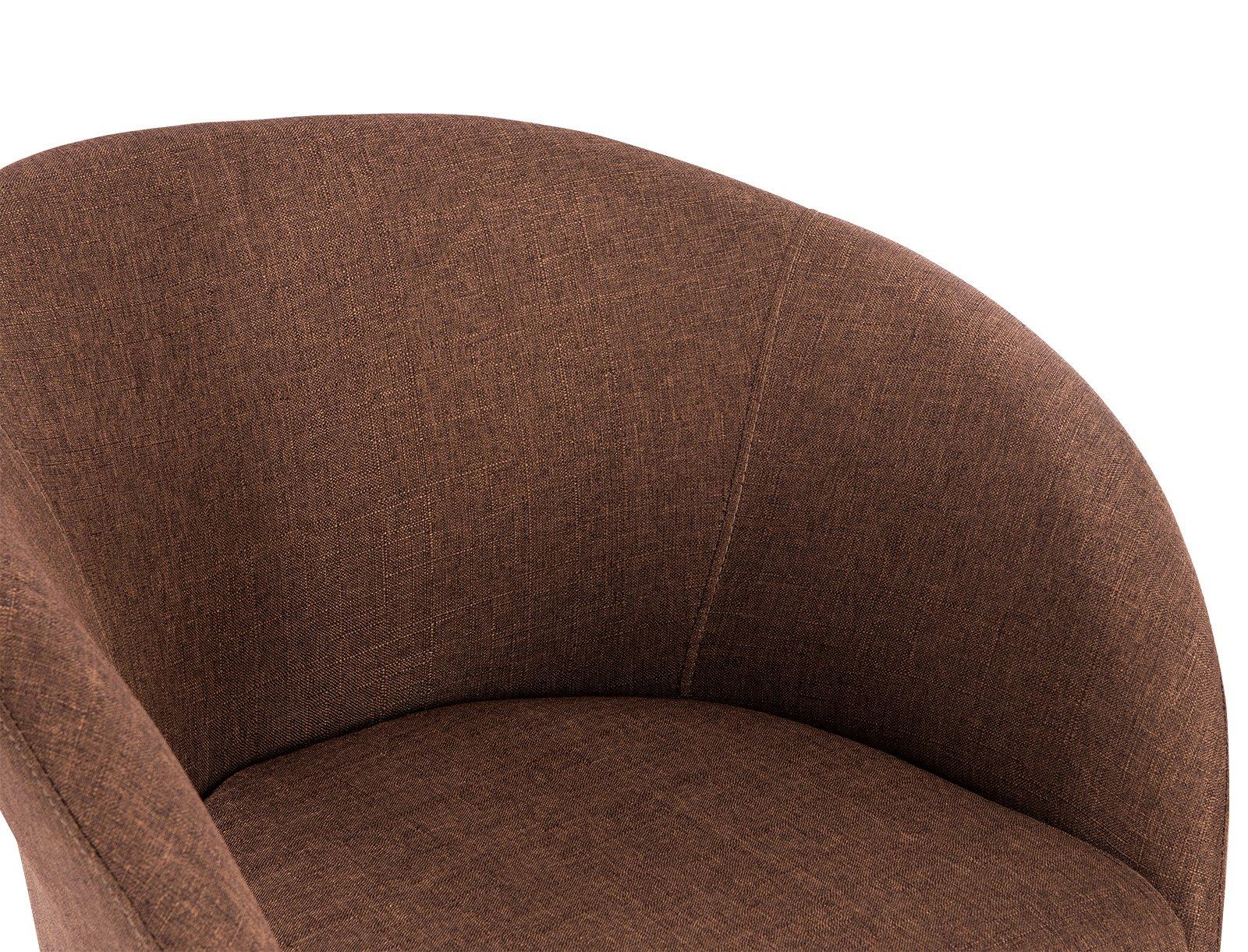 Woltu bh br poltroncina con schienale braccioli sedia sgabello