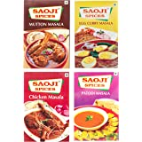 Saoji Spices Egg Curry ,Chicken Curry and Mutton,Patofi Masala, 300 g (Combo of 4)