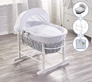white-dimple-moses-basket-deluxe-rocking