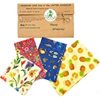 Involucri di cera d'api, set di 4, Colori casuali, BEE Zero Waste,beeswax wraps, UK HANDMADE, Alternativa naturale…