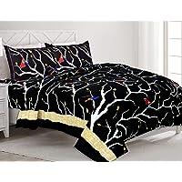 MagicBlizz Cotton 200 TC Bedsheet (Black_King)
