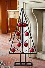 Weihnachtsbaum Metall Schwarz - Wunderschöner Baum als Weihnachtsdeko oder Wohndeko für Ihr Zuhause - Dieser Deko Baum verschönert zur Weihnachtszeit jedes Zimmer und jeden Raum (80cm)