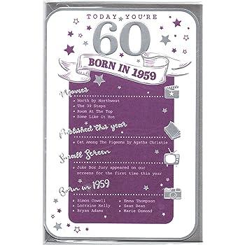 60th Birthday Card Female