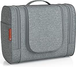 VanLindson Kulturbeutel Comfort [Design 2018], Kulturtasche zum Aufhängen für Damen, Herren und Kinder, Große Kosmetiktasche mit 7 Liter Stauraum, Waschtasche, Waschbeutel in Premium-Qualität