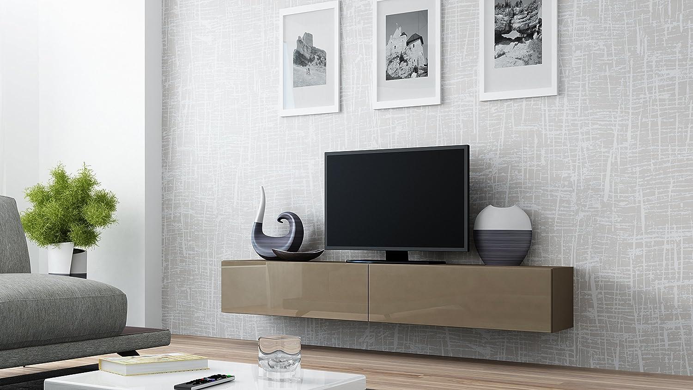 Tv board lowboard migo hängeschrank wohnwand 180cm (weiß matt ...