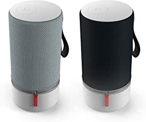 Libratone Zipp 2 Multiroom Bundle 2 Stück Smart Wireless Lautsprecher Alexa Integration Airplay 2 Multiroom 360 Sound Wlan Bluetooth Spotify Connect 12 Std Akku Stormy Black Und Frosty Grey Audio Hifi