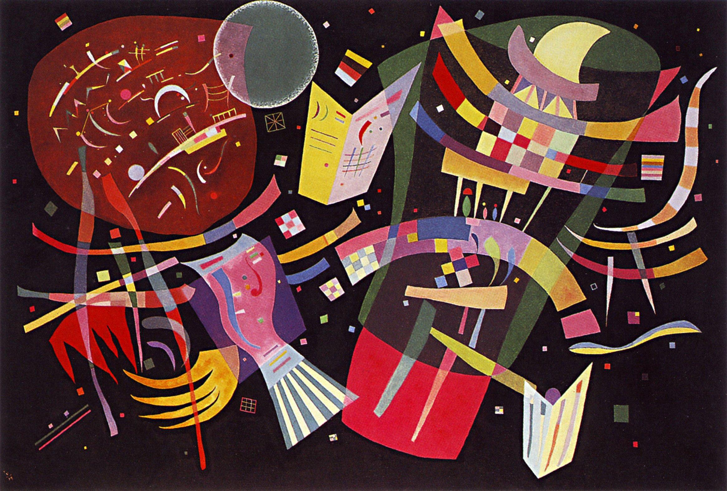Legendarte P-283 Vassily Kandinsky, Tela e Legno, Multicolore, 60x90x4 cm