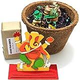 "bioQ Plantable Seed Ganesha (6"") | Eco Friendly DIY Kit with Planting Essentials | Home Visarjan of Lord Ganesh That Grows In"
