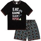 Pijama corto para niños de 9-15 años con estampado Eat Game Sleep Repeat