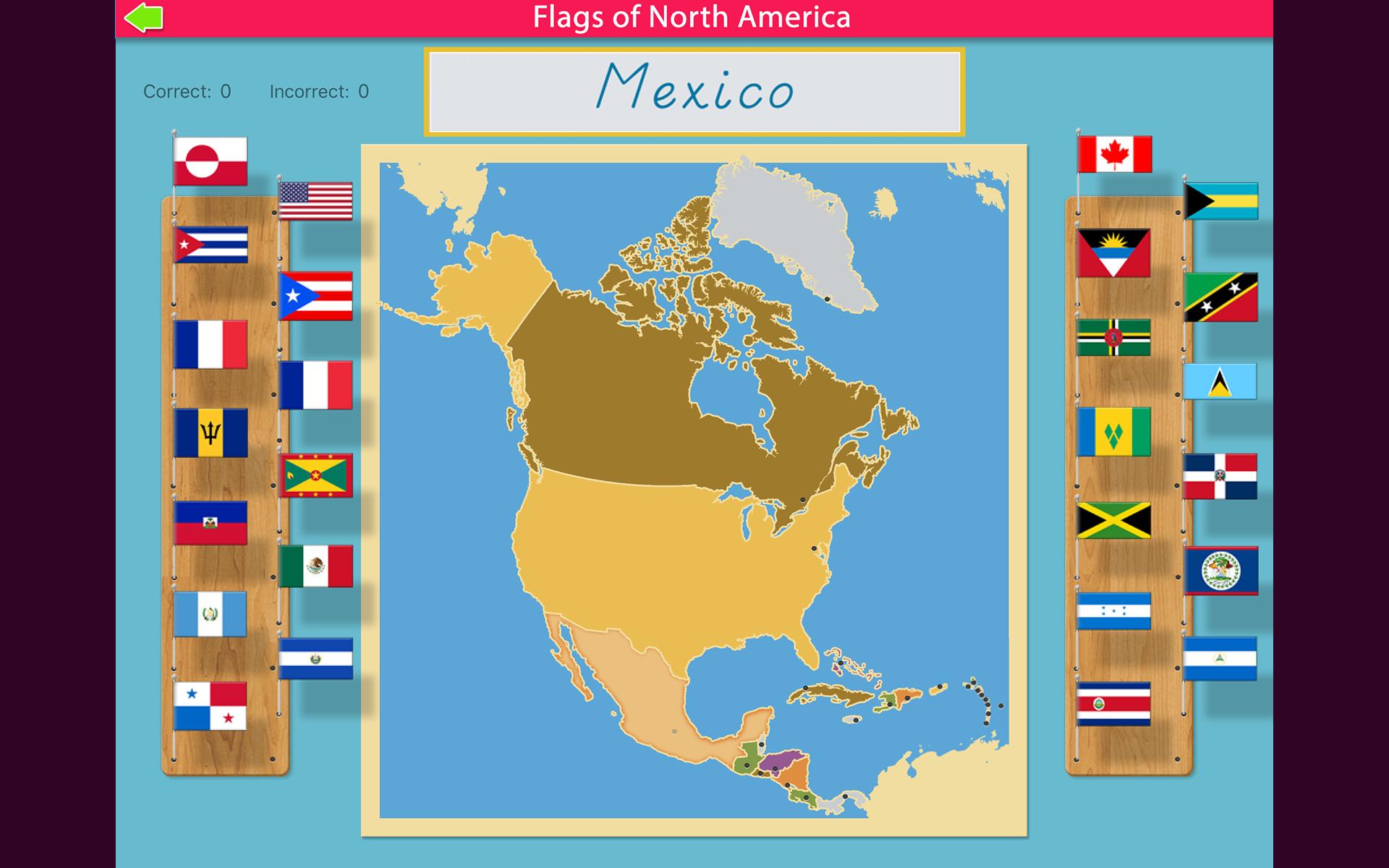 Flags Of North America Montessori Geography Amazon In Amazon In
