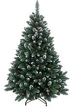 HXT 15013, Exklusiver künstlicher Weihnachtsbaum mit Metallständer, beschneite Spitzen und Tannenzapfen, in den Grössen 120 / 150 / 180 / 210 / 240 erhältlich