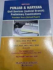 Punjab & Haryana Civil Services (Judicial Branch) Preliminary Examinations Previous Year (Solved Paper)