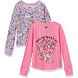 Amazon Brand - Spotted Zebra Girl's 2-Pack Long-Sleeve Thermal Tops