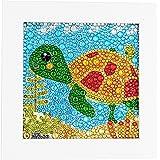 ParNarZar Petit et Facile DIY 5d Diamant Peinture Kits Mosaic Making avec Cadre Blanc pour Enfants - Little Turtle 15x15cm