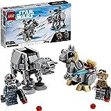 LEGO Star Wars Microfighter AT-AT vs Tauntaun, Set di Costruzioni con Minifigure di Luke Skywalker e del Pilota, 75298