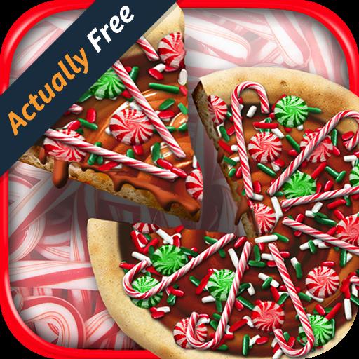 Christmas Candy Pizza Make & Bake - Santa & Snowman Kids Dessert Kitchen Cooking Food Maker Restaurant FREE Game
