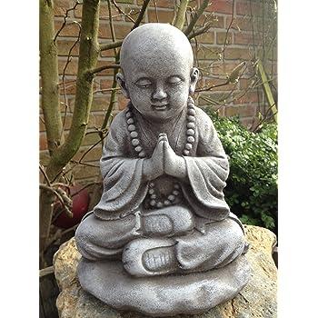 Steinfigur buddha figur skulptur garten deko koi teich for Steinfigur buddha garten