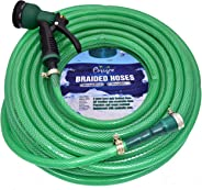 CINAGRO™ - Heavy Duty 3 Layered Braided Water Hose Pipe (Size : 1/2 inch - Lenght : 20 Meters) with 8 Mode Sprayer Nozzle, Ga