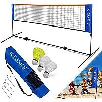 KESSER® Badmintonnetz, Tennisnetz | 300cm | 400cm | 500 cm | Federballnetz 3-Fach-Höhenverstellbar, Set bestehend aus…