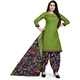 HANOBA Women's Leon Synthetic Unstitched Dress Material with Dupatta