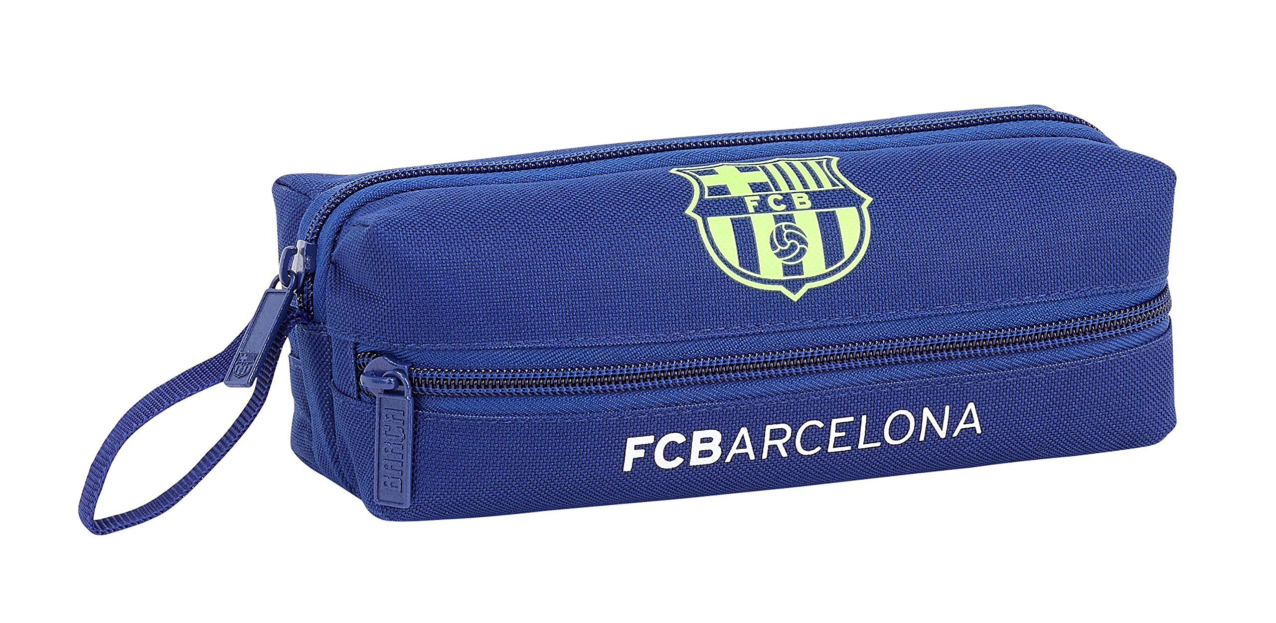 FC Barcelona Estuche portatodo Triple 3 Cremalleras Escolar.
