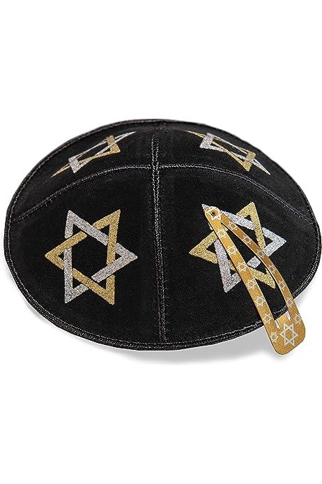 Cappello Kippah Yarmulke ebraico Yamaka Kippa di raso bianco