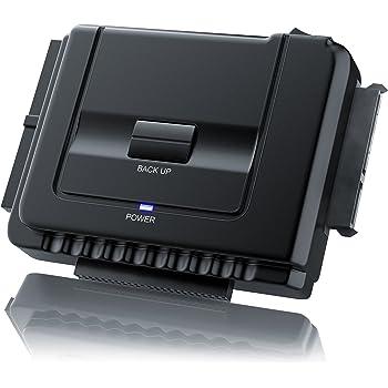 CSL - IDE/SATA zu USB 3.0 Combo Dockingstation | bis zu 5 Gb/s | One Touch Backup | Dualbetrieb | Power-LED | 2,5 Zoll und 3,5 Zoll SATA, HDD & IDE Laufwerke/DVD-ROM, CD-ROM, CD-RW, DVD-RW, DVD+RW