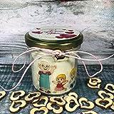 Regalo per i Nonni - Candela in cera di soia e oli essenziali personalizzata con dedica – Festa dei Nonni – Vi voglio bene No