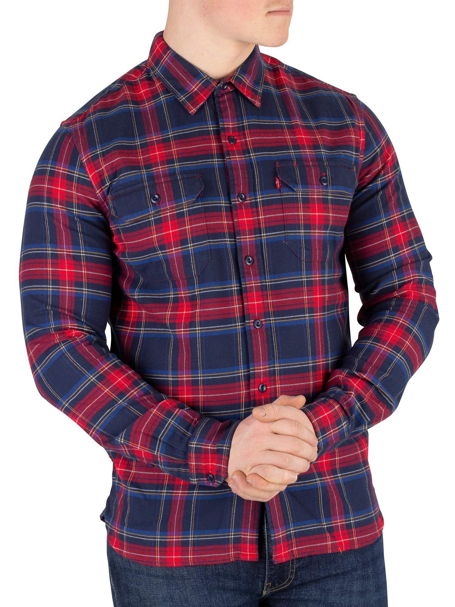 Levi's Hombre Camisa Jackson Worder Lingroth, Azul