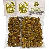 TrofoPlan Aceitunas Verdes aliñadas con Tomillo y Albahaca, 2 x 200 g (Total: 400 g)