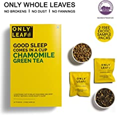 Onlyleaf Chamomile Green Tea, 52 Tea Bags with 2 Free Exotic Samples